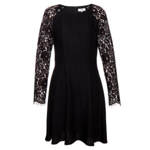 Feierliche Look: schwarzes Kleid mit Spitze