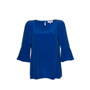 Stop the Blues Look: königsblaue Bluse