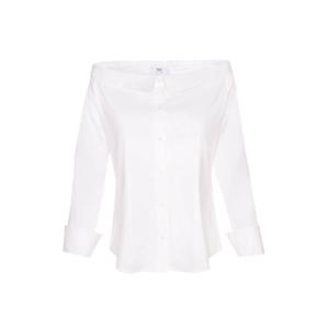 Business Look: weiße Bluse