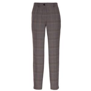 Glencheck Look: gerade geschnittene Hose