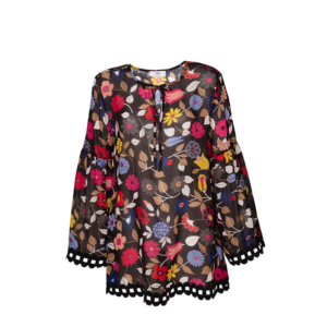 Stop the Blues Look: Bluse mit Flower-Print