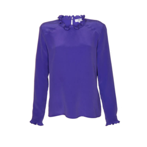 Stop the Blues Look: lila Bluse